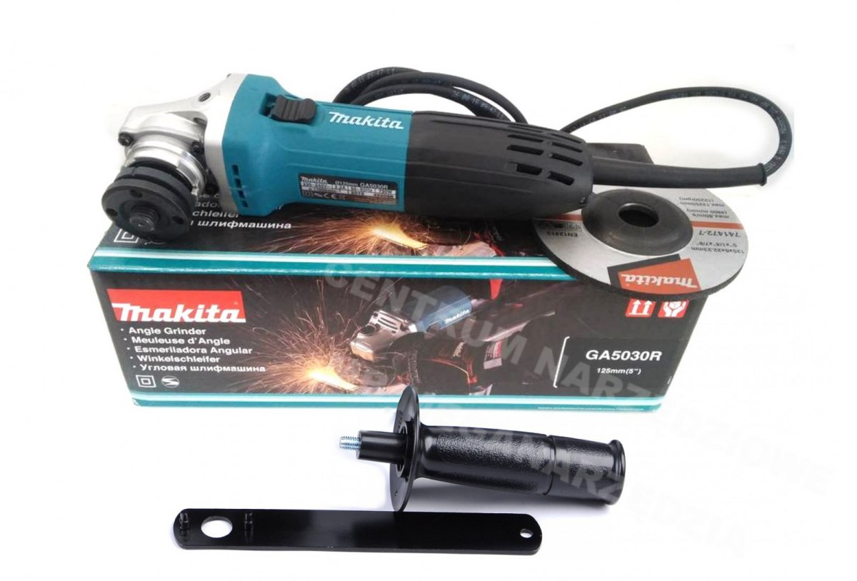 SZLIFIERKA KĄTOWA 125mm 720W MAKITA ANTYRESTART