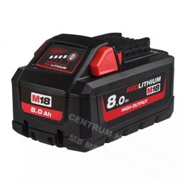 MILWAUKEE AKUMULATOR 18V 8,0Ah Li-Ion M18 B8