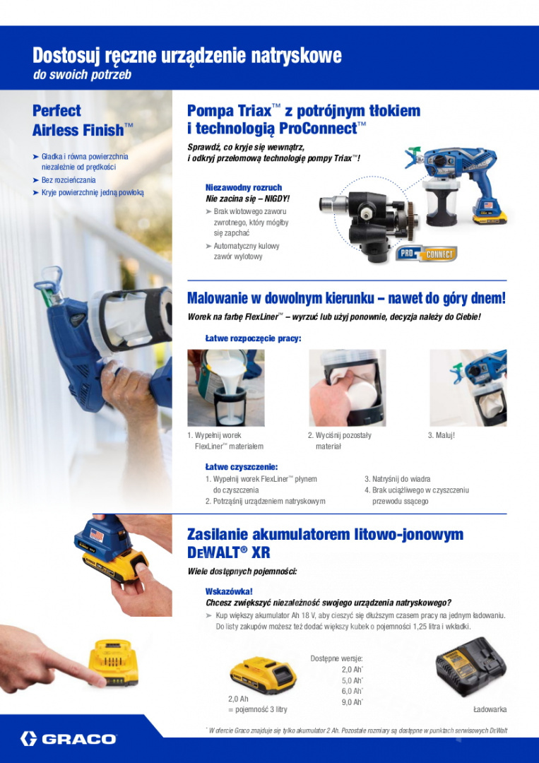 17P258 PISTOLET GRACO ULTRAMAX AIRLESS CORDLESS