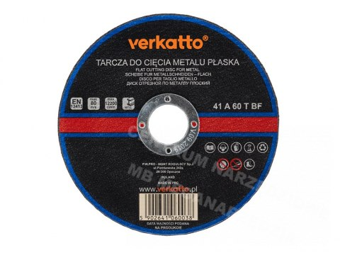 VR-6006 TARCZA DO METALU PŁASKA 230x2,0mm